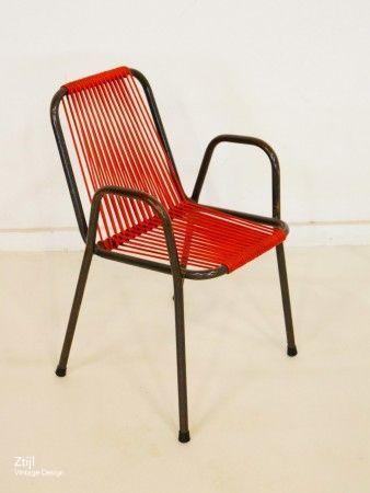 Vintage children's chair '50s   Mid Century Design