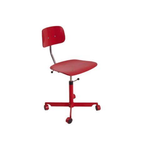 Kevi Desk Chair Fritz Hansen Red | Mid Century Design