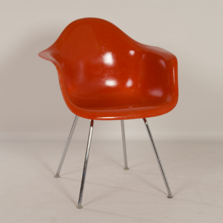 Orange DAX Armchair by Charles & Ray Eames for Herman Miller, Fehlbaum, 1970s