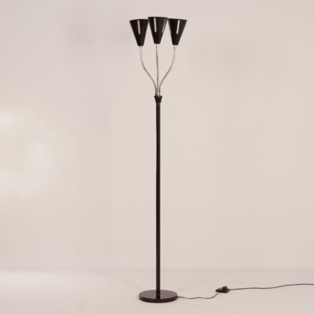 Sun Series Floor Lamp by H. Busquet for Hala, 1950s