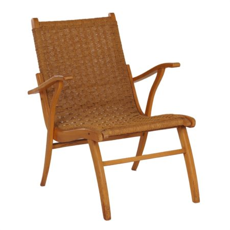 Mid-century Armchair With Rope by Vroom & Dreesman 1950s | Mid Century Design