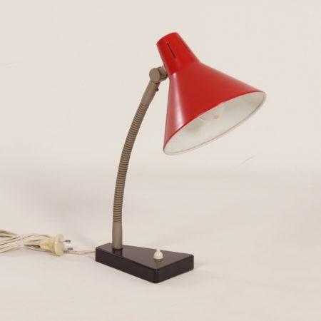 Red Hala Desk Lamp Model 11, 1960s