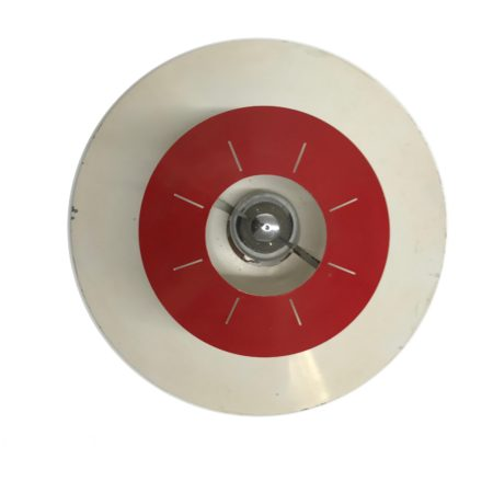 Space Age Ceiling lamp by Louis Kalff for Philips, ca 1958 | Red and White | Mid Century Design
