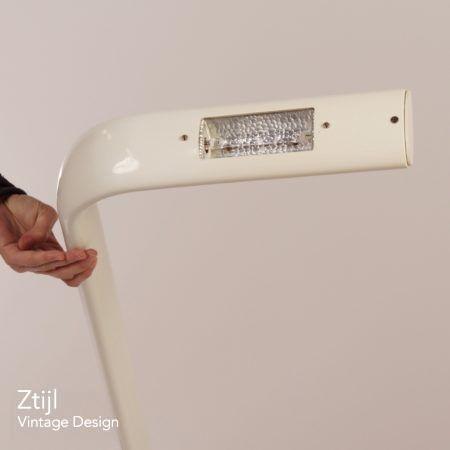 Italian Uplighter Floor Lamp, 1980s – White