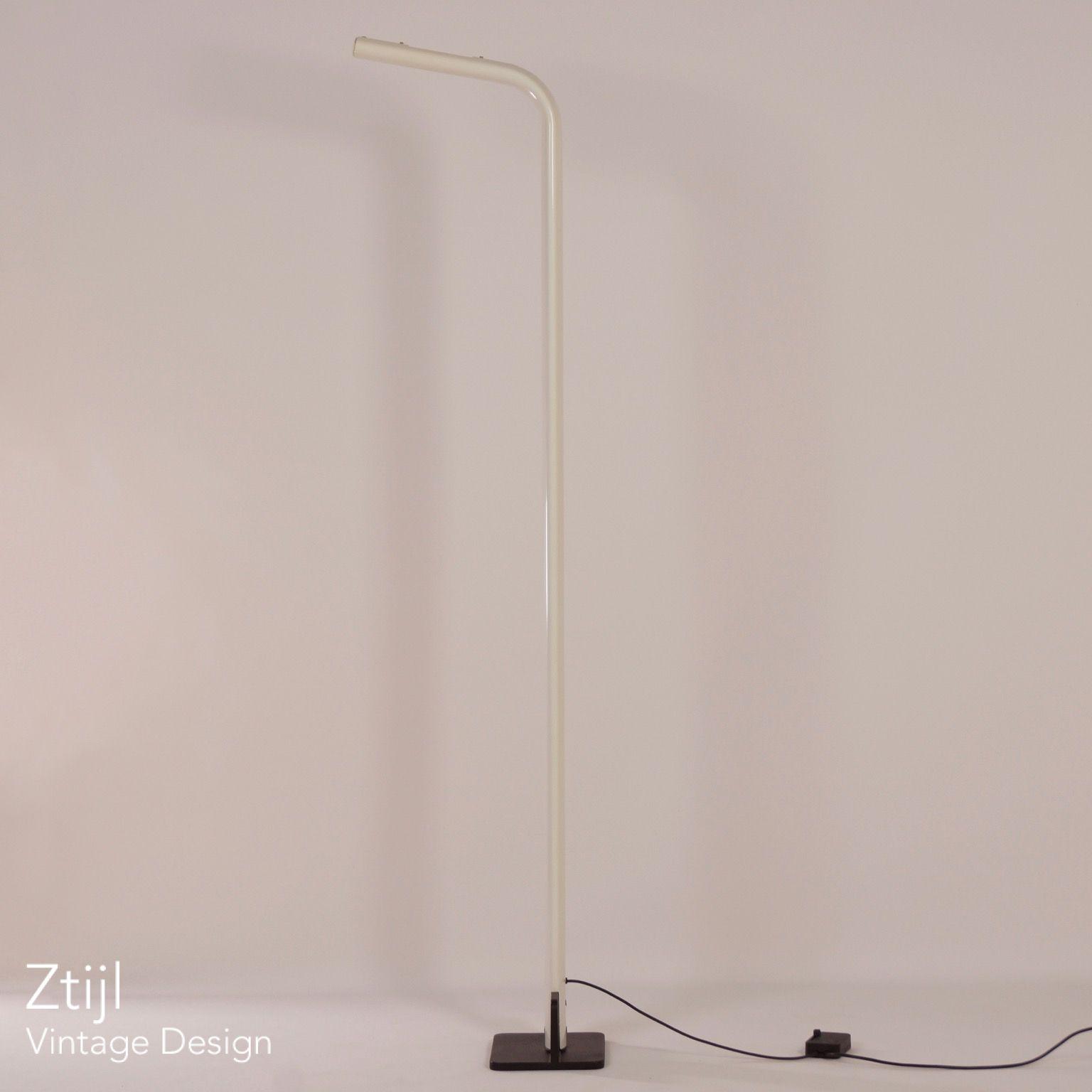 White Italian Uplighter Floor Lamp, 1980s - Vintage Design