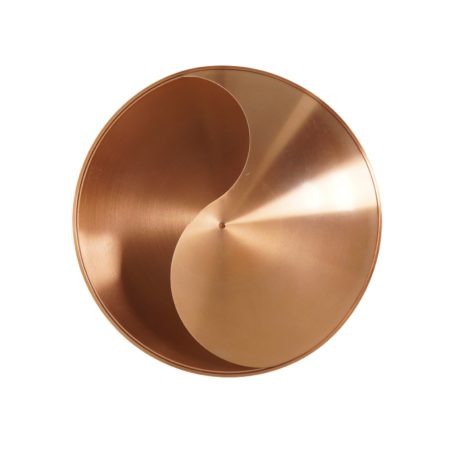 Copper Colored Yin Yang Wall Lamp by Hermian Sneyders de Vogel for Raak, 1970s | Mid Century Design