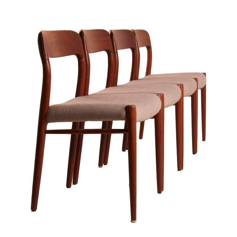 Danish Dining Chairs By Niels Moller For Møller, Denmark 1950s | Mid  Century Design