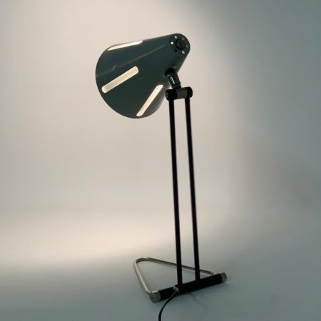 "Rare ""Sun Series"" Desk Lamp ""Model 1"" by H. Busquet for Hala, 1950s."