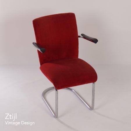 De Wit Easy Chair model 1018 by Toon de Wit, 1950s