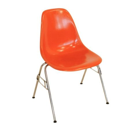 Orange Eames Chair by Herman Miller, 1950s | Mid Century Design