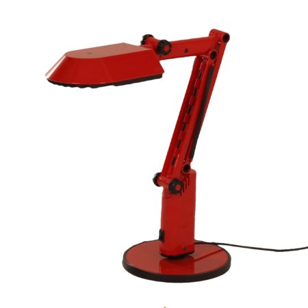 Red Desk Lamp by Ahlstrom & Ehrich Design for Fagerhults, 1970s | Mid Century Design