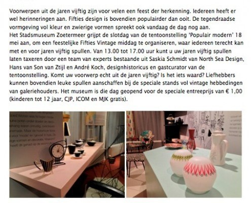 May 18, Fifties Vintage Afternoon in the Stadsmuseum Zoetermeer