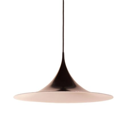 Black Semi Pendant by Claus Bonderup and Torsten Thorup for Fog and Morup, 1967 – 60 cm | Mid Century Design