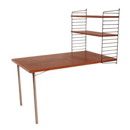 Nisse String Table with Bookshelf | Mid Century Design