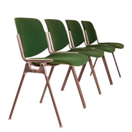Castelli Chairs | Set of 4 | Green | Mid Century Design