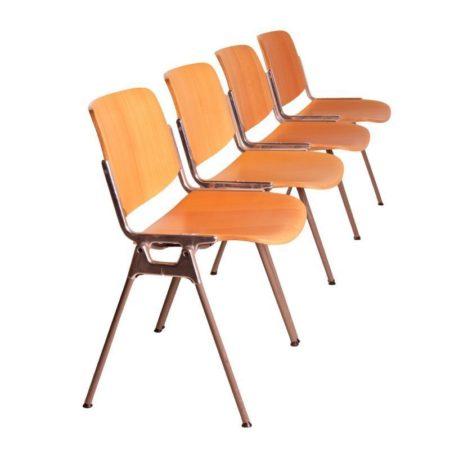Castelli Chairs Beech Wood | Set of Four | Mid Century Design
