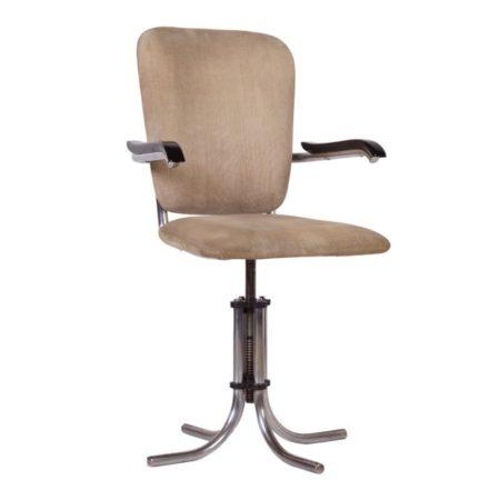Adjustable Fana Metaal Desk Chair with Armrests | Mid Century Design