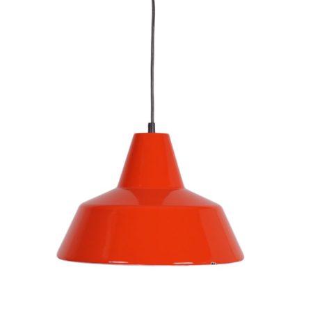 Louis Poulsen Pendant |Red White Enamel | Mid Century Design