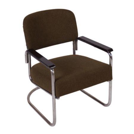 Green Tubular Bauhaus Easy Chair | Mid Century Design