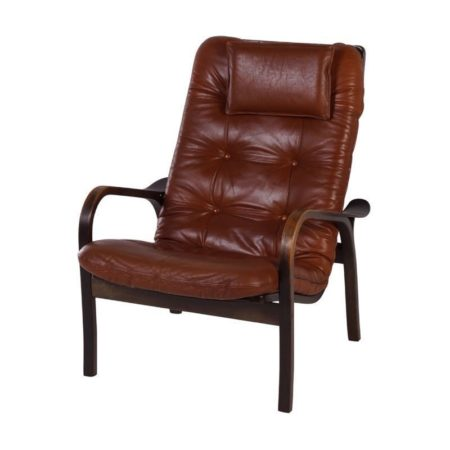Ekström Armchair | Brown Leather | Mid Century Design