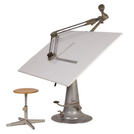 Industrial Nike Drafting Table | Mid Century Design