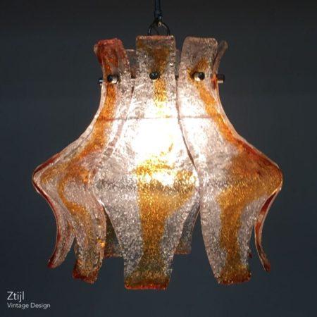 Murano Hanging Lamp for Mazzega, 1970s