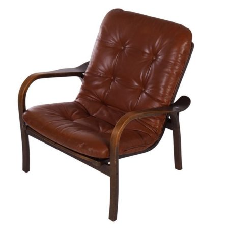 Ekström Armchair | Brown Leather (3) | Mid Century Design