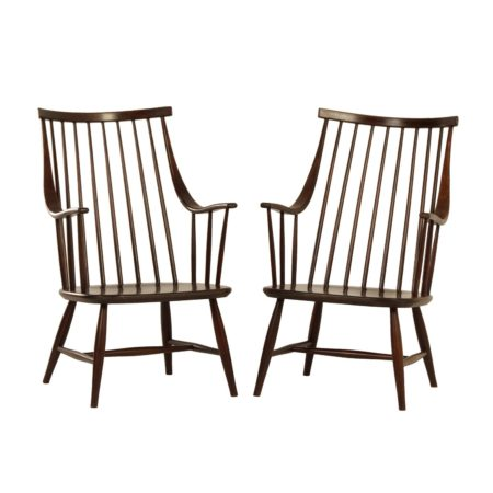 Swedish Armchairs by Lena Larsson for Nesto, 1960s | Set of 2 | Mid Century Design