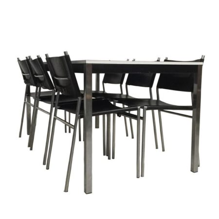 Dining Table and Chairs by Martin Visser for 't Spectrum | Mid Century Design