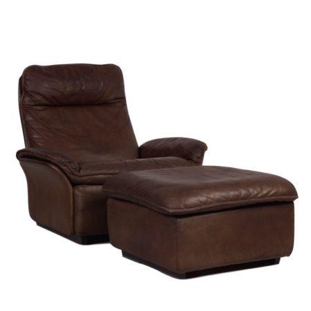 De Sede Easy Chair with Stool | Mid Century Design