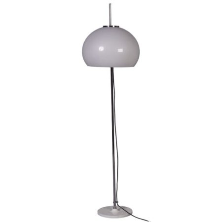 Hagoort floor lamp with white tulip base and adjustable hood | Mid Century Design