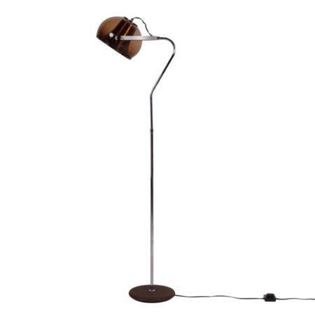 Herda Floor lamp | Transparent Brown Shade | Mid Century Design