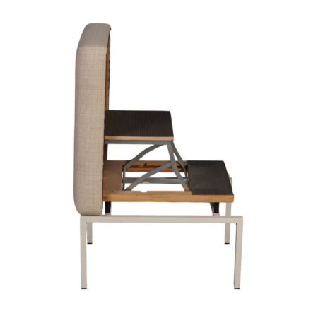 Foldable Foot Stool with Stepladder | Mid Century Design