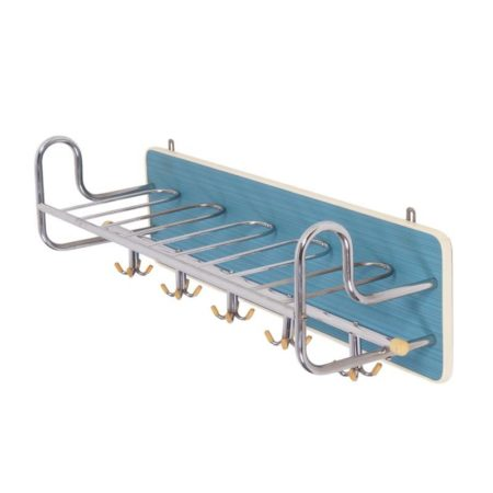 Vintage Blue Wall Coat Rack | Fifties | Mid Century Design