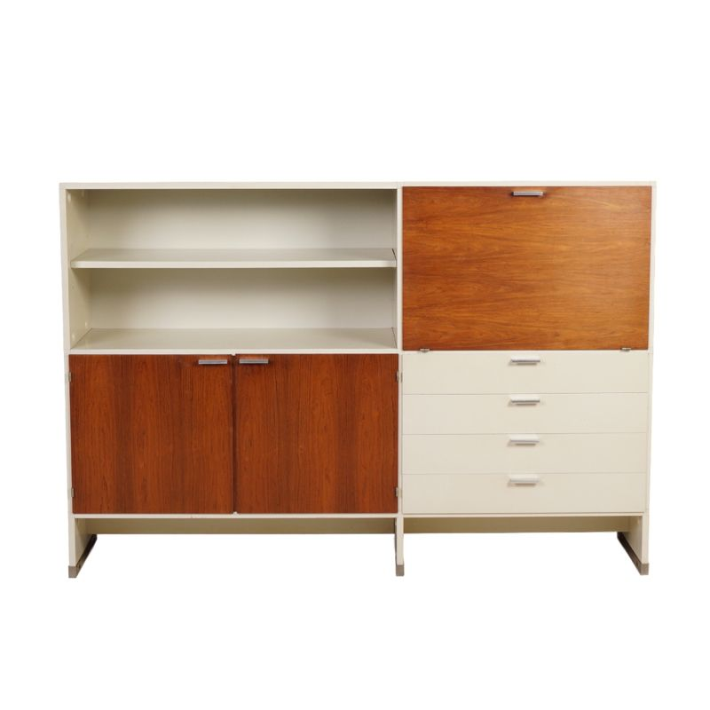 Vintage Rosewood And White Sideboard By Cees Braakman For