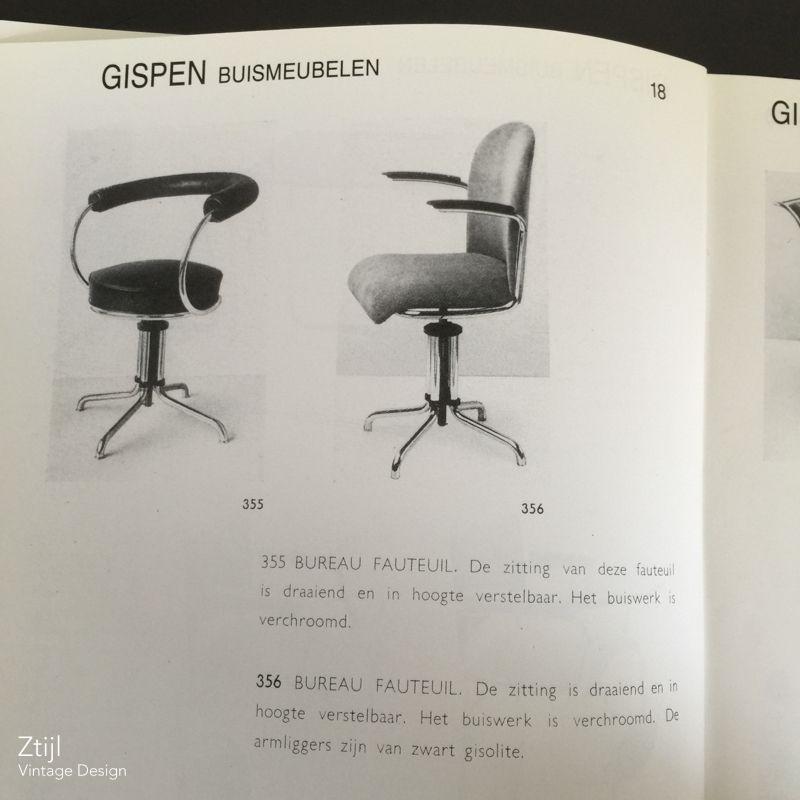 Gispen Zinn Bureaustoel.Vintage 356 Gispen Desk Chair 1930s