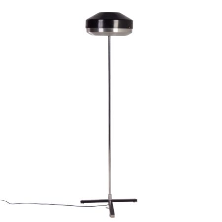 Black and Chrome Floorlamp by Hiemstra Evolux, 1960s | Mid Century Design