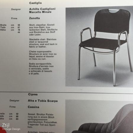 Castiglia Stoel by Achille Castiglioni & Marcello Minale for Zanotta ca. 1968