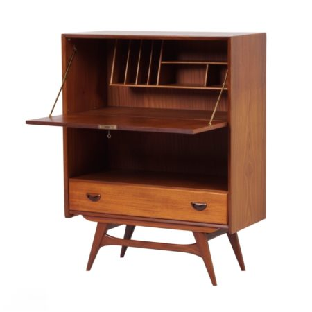 Cabinet with Desk by Louis van Teeffelen for Wébé, ca. 1960 | Mid Century Design
