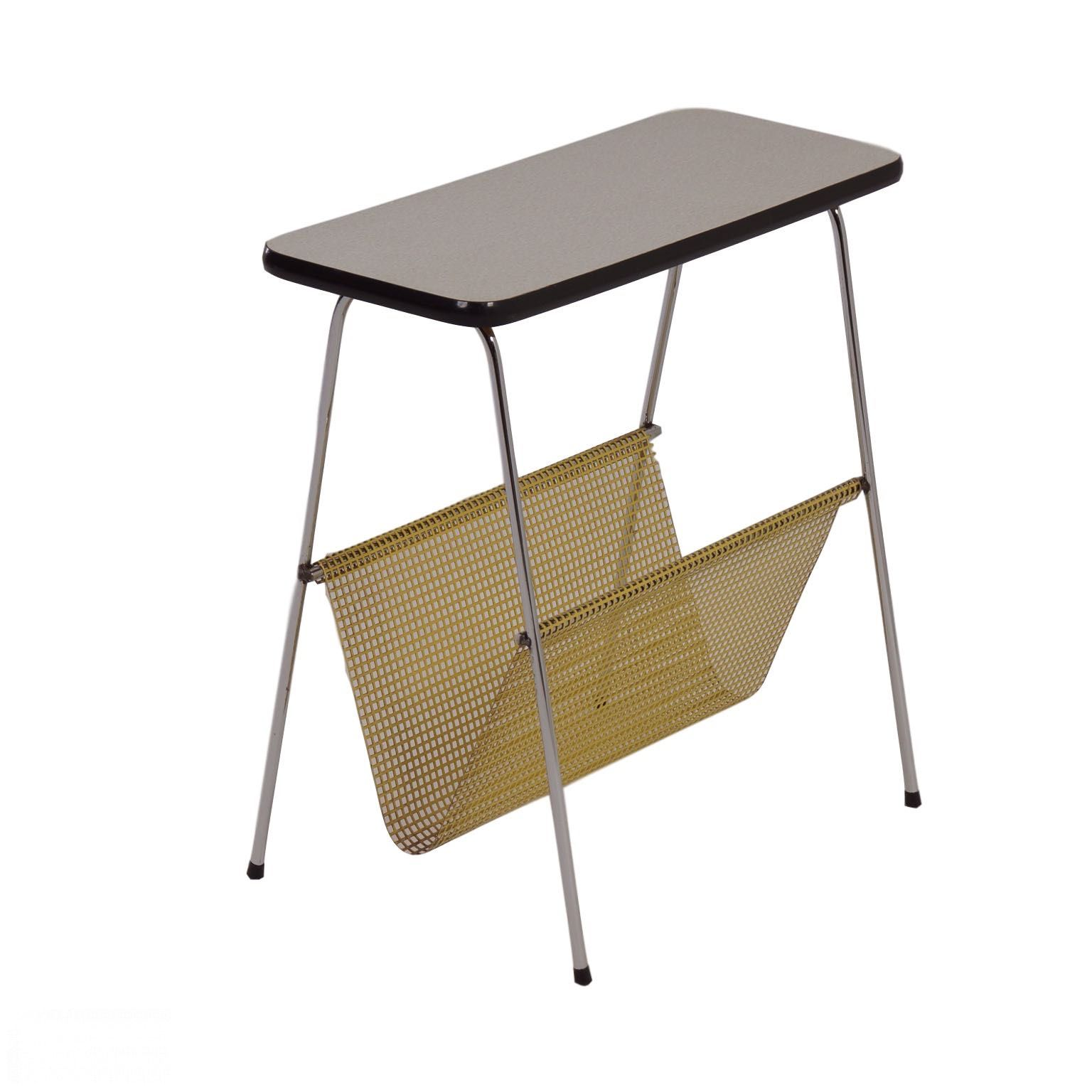 Wonderful image of  Design Pilastro Style Side Table with and Magazine Rack 1960s Ztijl with #8A7141 color and 1536x1536 pixels
