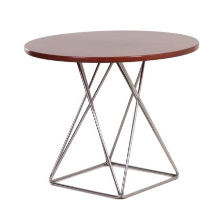 Round Dining Table with Eiffel Base for Thonet, 1970s | Mid Century Design