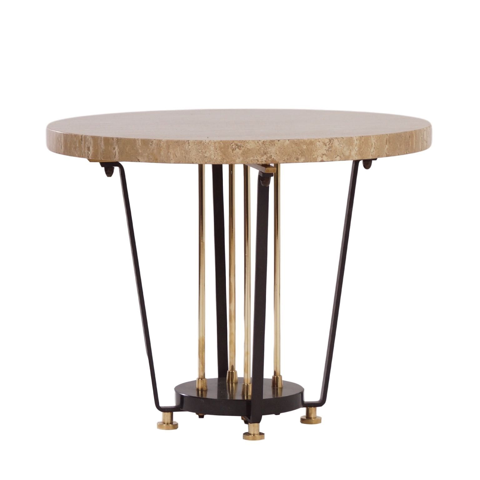 Italian Coffee Tables Marble Vintage Round Italian Center Table Of Brass And Marble 1950s