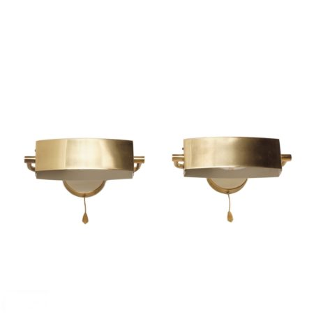 Pair Jaques Biny Wall Lamps ca. 1950s | Mid Century Design
