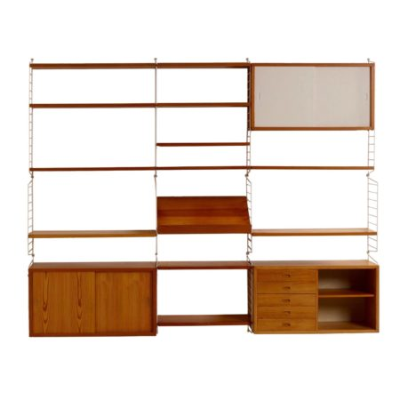 Pinewood Wall Unit '60s by Nisse Strinning for String Design AB, 60s | Mid Century Design