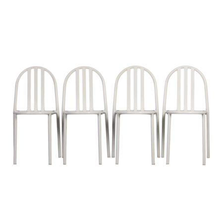 Vier Stapelbare Bauhaus Stoelen van Robert Mallet-Stevens voor Ecart International | Mid Century Design