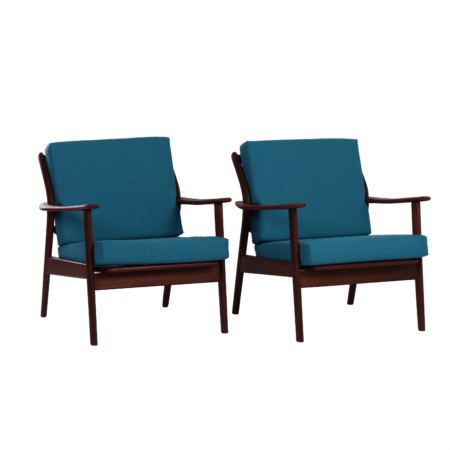 Dutch Teak Easy Chairs by De Ster Gelderland, 1960s – set of 2 | Mid Century Design
