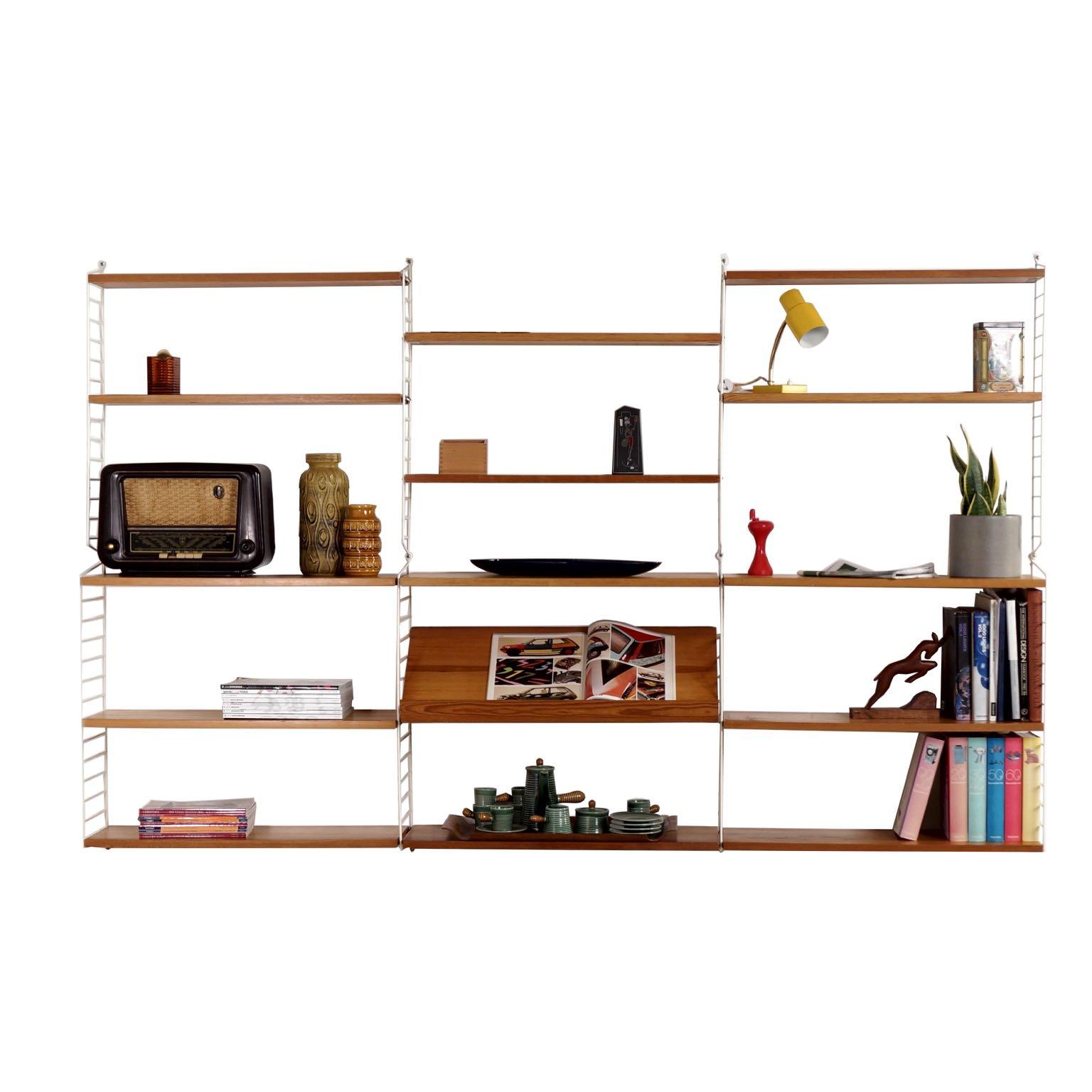 nisse string finest string oak wood wall unit by nisse. Black Bedroom Furniture Sets. Home Design Ideas
