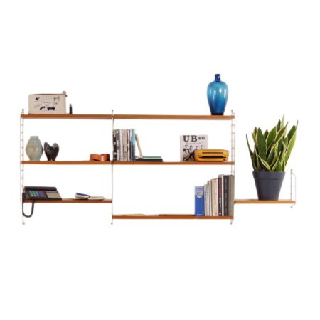 Small Wall Unit by Nisse Strinning for String Design AB, '60s | Mid Century Design