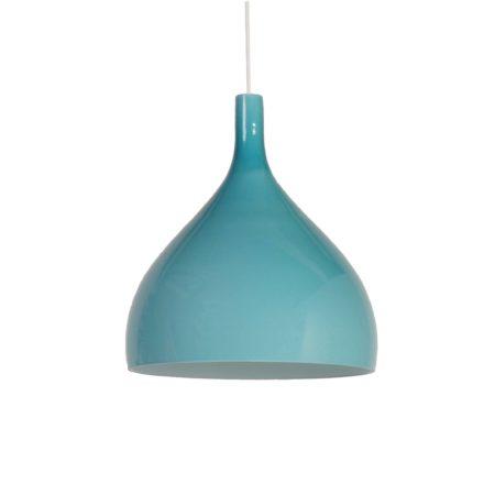 Blue Green Murano Pendant by Paolo Venini for Venini & C, 1960s Italy | Mid Century Design