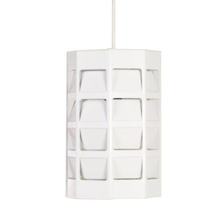 White Octagonal Pendant by Poul Gernes for Louis Poulsen ca. 1950 | Mid Century Design